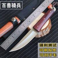 Facas faca de Sobrevivência do exército deserto de alta dureza de alta qualidade essencial de auto-defesa Faca de Caça de Acampamento ao ar livre ferramentas EDC