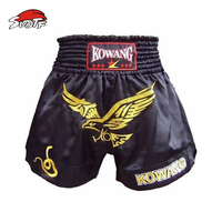 SUOTF 2015 primavera MMA boxeo Muay Thai cortos Envío Libre auténtico Muay Thai Shorts Muay Thai Shorts Rojo Negro Águila modelos