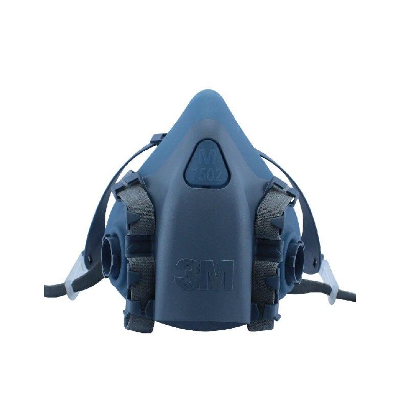 3M 7502 Half Face Respirator Mask Original Reusable Respirator Size Medium Use with 3M Cartridges Filters LT085