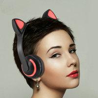 Cat Ear Headphones Seven Color LED Ear Wireless Headphone Bluetooth Earphone Flashing Glowing Headset Gameing Earphones