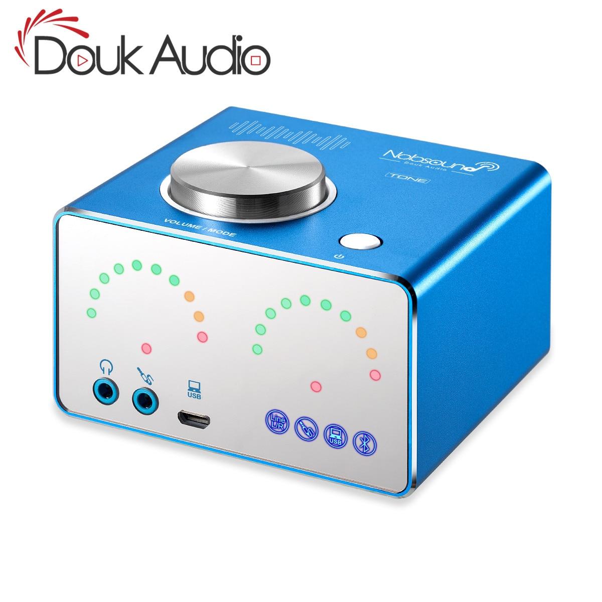 Douk Audio HiFi TPA3116 Digital Amplifiers Mini Bluetooth 4.2 Desktop Integrated Power Amp Stereo USB Sound Card Headphone Amp roksan kandy k3 integrated amp anthracite