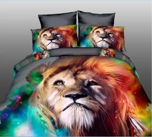 DHL Free Shipping Hot Cool Lion Tiger-Cats swan HD 3d printing Bedding set Queen Size 4pcs Bed Sets Sheets