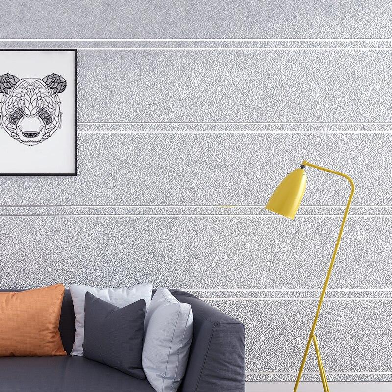 Papier peint moderne Simple De rayures De marbre De daim pour le rouleau De mur Papel De Parede 3D Non-tissé bureau papier peint salon chambre - 3