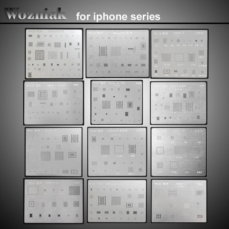 imágenes para Wozniak para iphone 4 4s 5 5s 5c 6 6 p 6 S 6SP 7 7 P SÍ pad BGA Reballing dedica kit