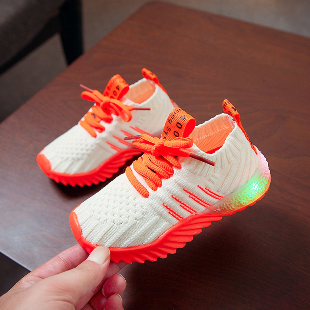 LED Candy Color Knitted Sneakers 6