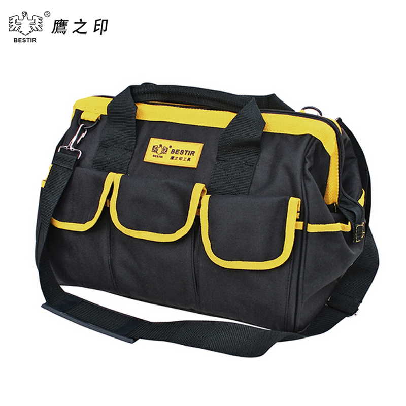 BESTIR Three Size THE Middle PVC Fabric Oxford Tool bags Waterproof Case handbag Toolkit With Knapsack Belt 05132 martinez g the oxford murders