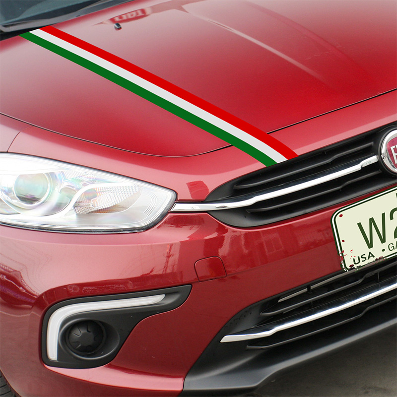 1 set italy color sport car covers stickers decal car styling for fiat 500 grande punto bravo. Black Bedroom Furniture Sets. Home Design Ideas