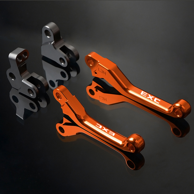 CNC Motorbike Brakes Levers For KTM EXC 125 200 250 300 400 450 500 530 2009-2018 Motorcycle Pivot Foldable Brake Clutch Lever