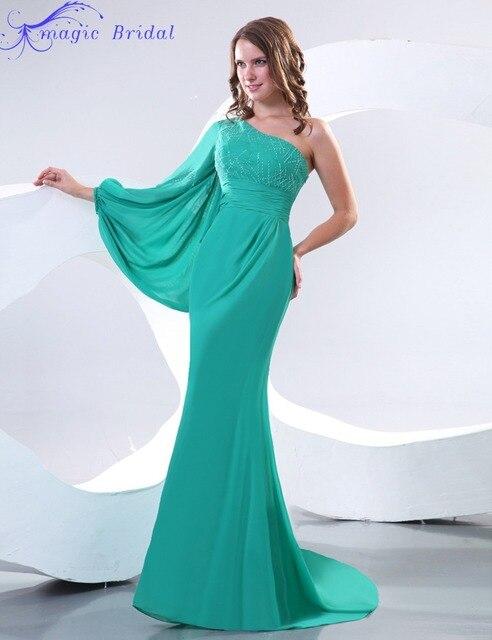 Sera Lunghi Verde Da Elegante Arrivi Vestiti Lunga 2016 Manica Nuovi QCxeWrdBo