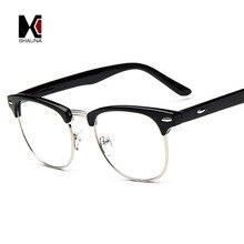Fashion Vintage Men Retro Style Black Frame Plain Glasses Women Eyeglasses Optical Frame Glasses Oculos Femininos Gafas цена