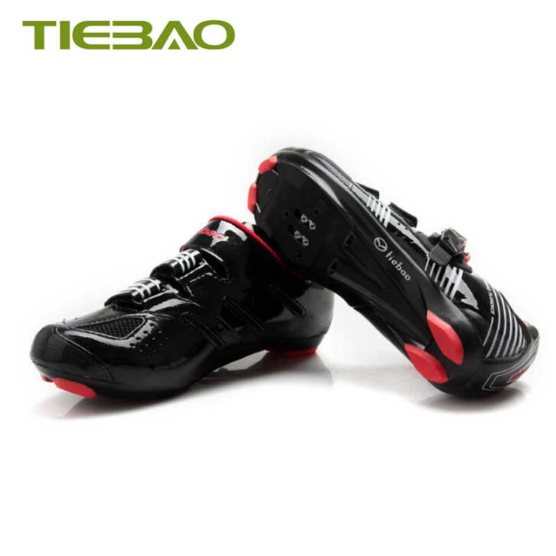 Tiebao road bike shoes 2019 women women breathable self-locking cycling sneakers bicycle pedals shoes road superstar Cleats