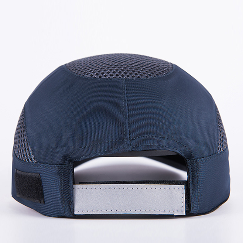 Men Black Safety Bump Cap With Reflective Stripes Lightweight and Breathable Hard Hat Head Protection Cap