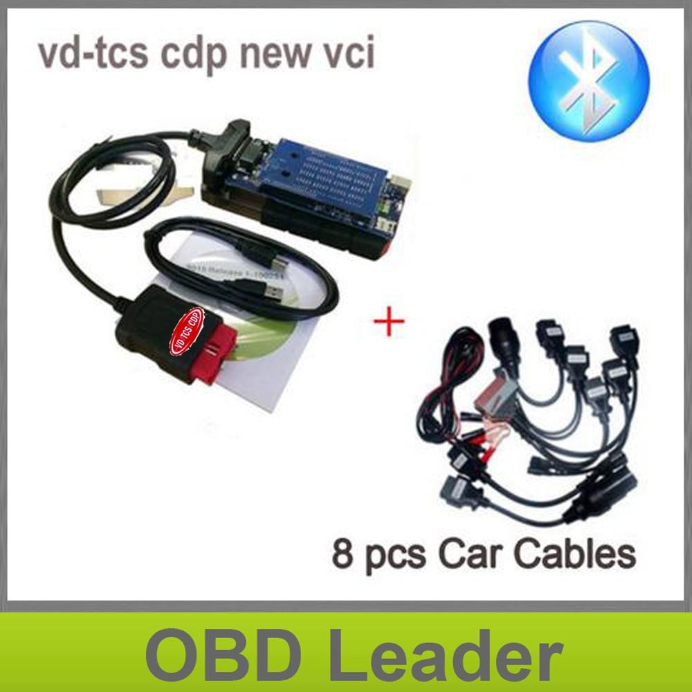 Prix pour Date scanner avec bluetooth VD TCS CDP OBD2 Outil De Diagnostic 2015.3 keygen + ensemble complet 8 PCS voiture câbles DHL LIVRAISON LE BATEAU
