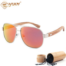 New polarized sunglasses handmade wooden arms unisex glasses women men brand designer wood sun glasses with REVO lens 1703