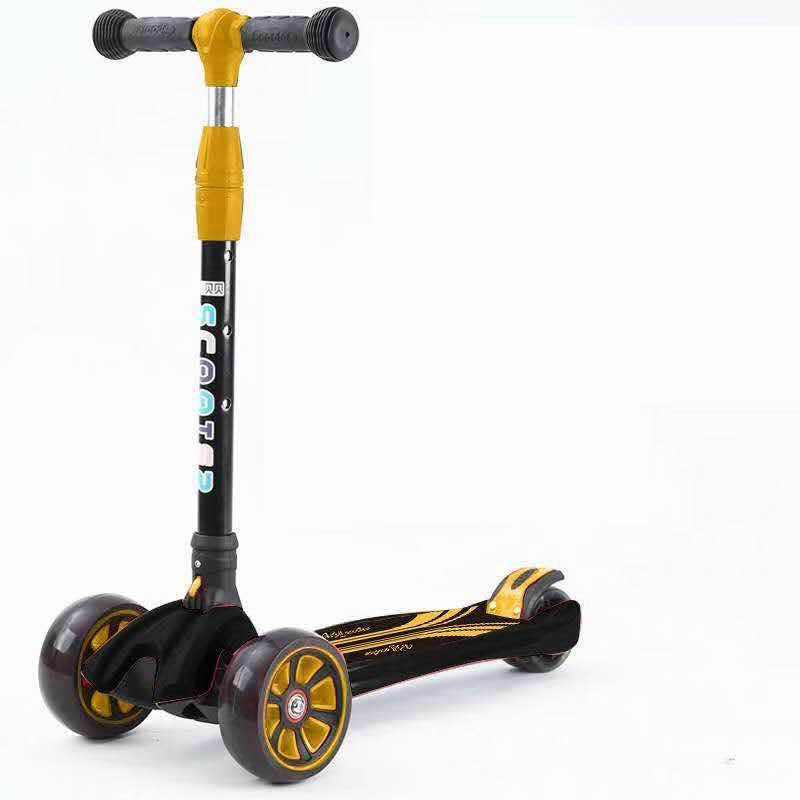 Anak Scooter 2019 Sekarang Kokoh Anak Skuter Skuter Roda Tiga Lipat untuk Anak-anak dari 3 Tahun