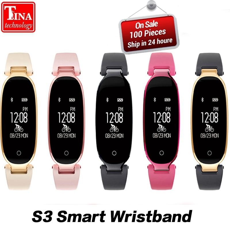 Orginal Fashion Smart Band Bracelet Girl Women Heart Rate Monitor S3 Wrist Smart band Lady Female Fitness Tracker Wristband
