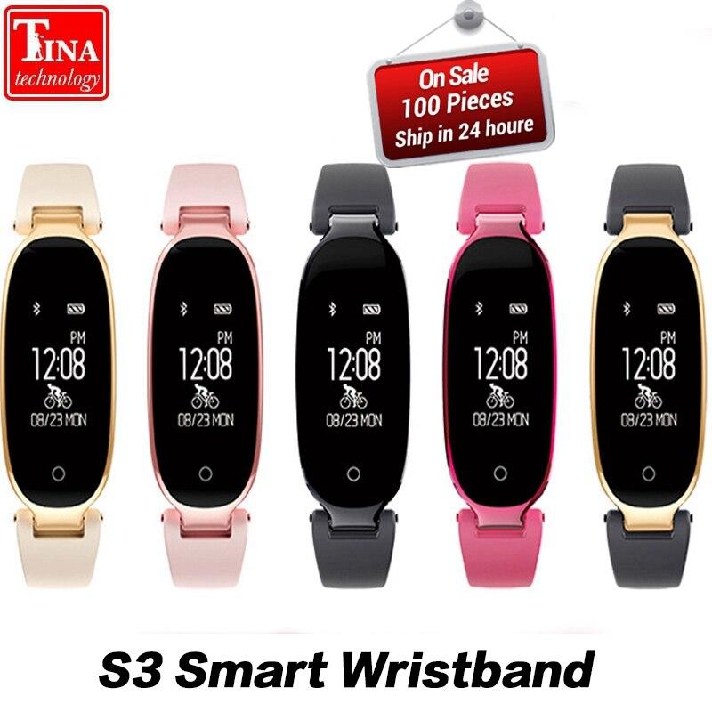 Orginal Fashion Smart Band Bracelet Girl Women Heart Rate Monitor S3 Wrist Smartband Lady Female Fitness Tracker Wristband