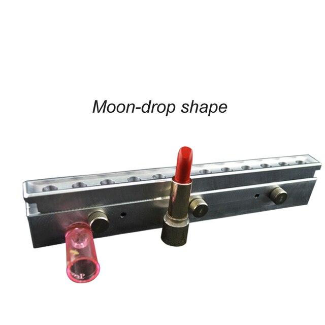 12 полостей/отверстий алюминиевого помады плесень, lipstick filling mold_Moonrdrop Форма 11.8 мм/12.1 мм/12.7 мм