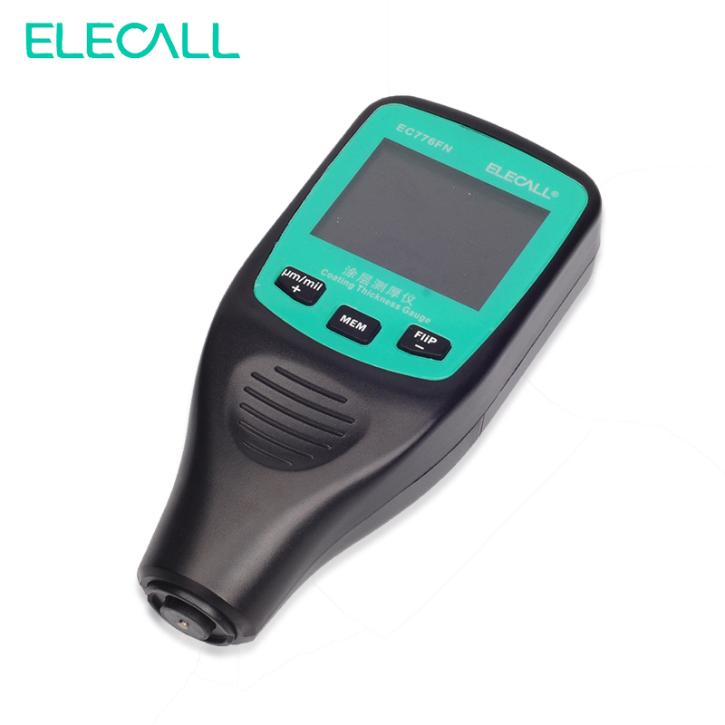 EC776FN Digital Thickness Gauge Coating Meter Width Measuring Instrument Paint Electroplated Coating Thickness Measure elecall ec772fn digital thickness gauge coating meter width measuring instrument paint electroplated coating thickness measure