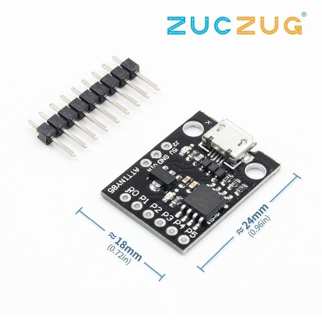 ATtiny ATtiny85 Digispark Kickstarter Micro USB Development Board Module For Arduino IIC I2C TWI SPI Low Power Microcontroller
