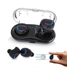 лучшая цена Q18 Mini Wireless Bluetooth Earphones In-Ear Stereo noise canceling wireless headset with Mic earbuds with Charging Case