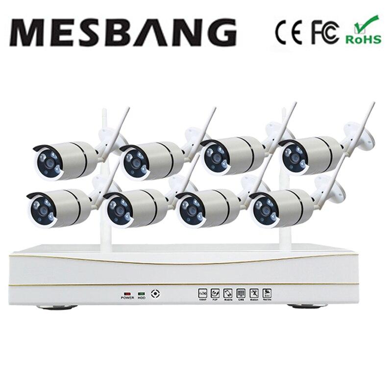 Mesbang 960 P 8ch nvr kit système de caméra cctv sans fil wifi pas besoin de câble pour installer le kit nvr livraison par DHL Fedex livraison gratuite