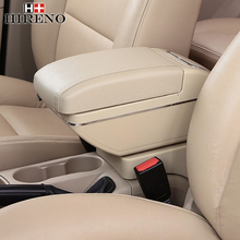 New Update 8th For KIA Cerato / Forte armrest box car styling PU Leather central Store content box with cup holder accessories