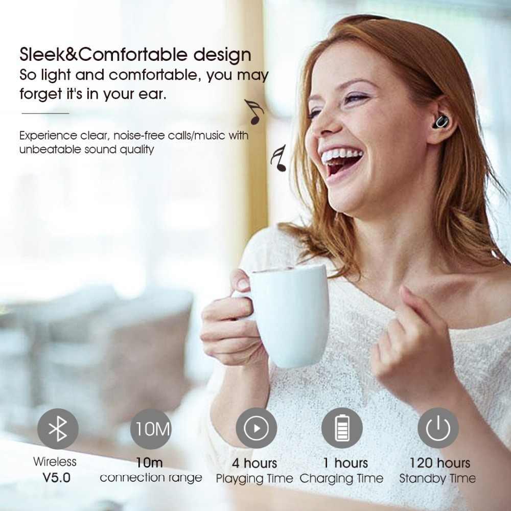 2019 sylaba Q32 1200 mah, jak funkcja banku mocy słuchawki zestaw słuchawkowy dla aktywnych bluetooth V5.0 mini słuchawki sylaba Q32 z mikrofonem