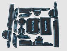 Alta calidad de Sílice gel de silicona pad ranura Gate, pad Taza de té, cojín antideslizante (12 unids) ajuste para 2013 Hyundai Santa Fe ix45 Car styling