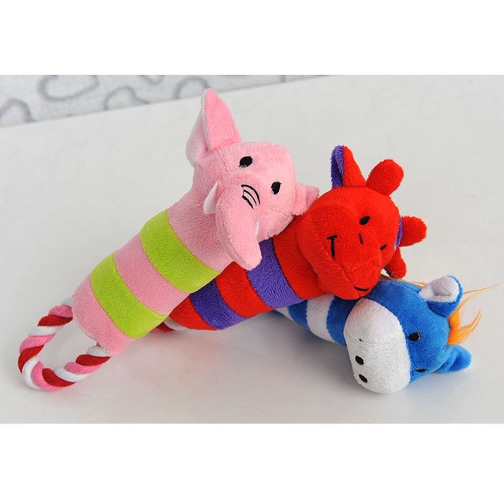 2018 NEW Pet Toys Dog Puppy Toy Plush Sound Squeaker Squeaky Animal Shape Chew Toy 0411