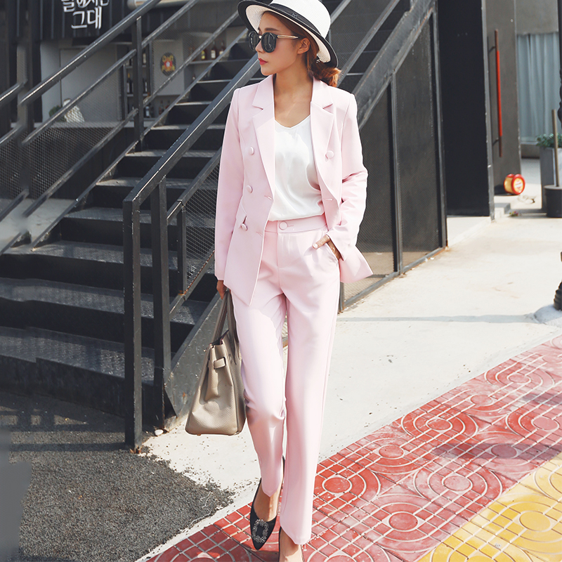 New Fall fashion suit suit female career suit jacket and long sections temperament casual two piece