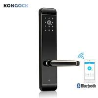 Bluetooth приложение умный дверной замок, удаленно электронный ключ и авторизованный пароль или карта доступа с аварийным ключом для дома отель