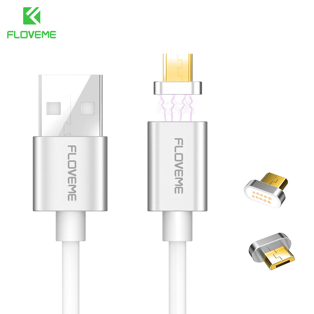 FLOVEME Magnetic Mini Plug Micro USB Data Cable For Samsung Xiaomi Huawei HTC Cable Charger Data Line For Android Mobile Phones