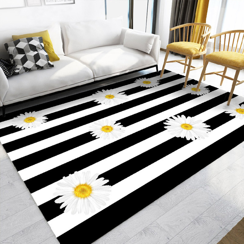 Tendance impression tapis pour salon chambre maison tapis/tapis cristal cachemire moderne minimaliste ménage 3D imprimé Pad tapis
