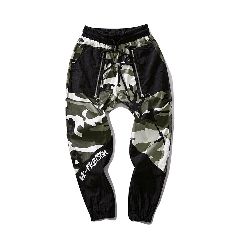 Streetwear Camouflage Pant Men 2019 Fashion Mens Camou Hip Hop Jogger Pant Trousers Patchwork Wa90
