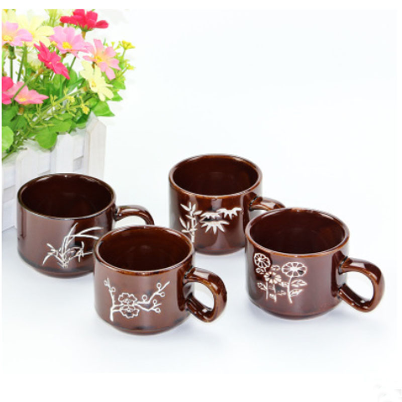 4 pcs lot cute creative ceramic mug drinkware picture. Black Bedroom Furniture Sets. Home Design Ideas