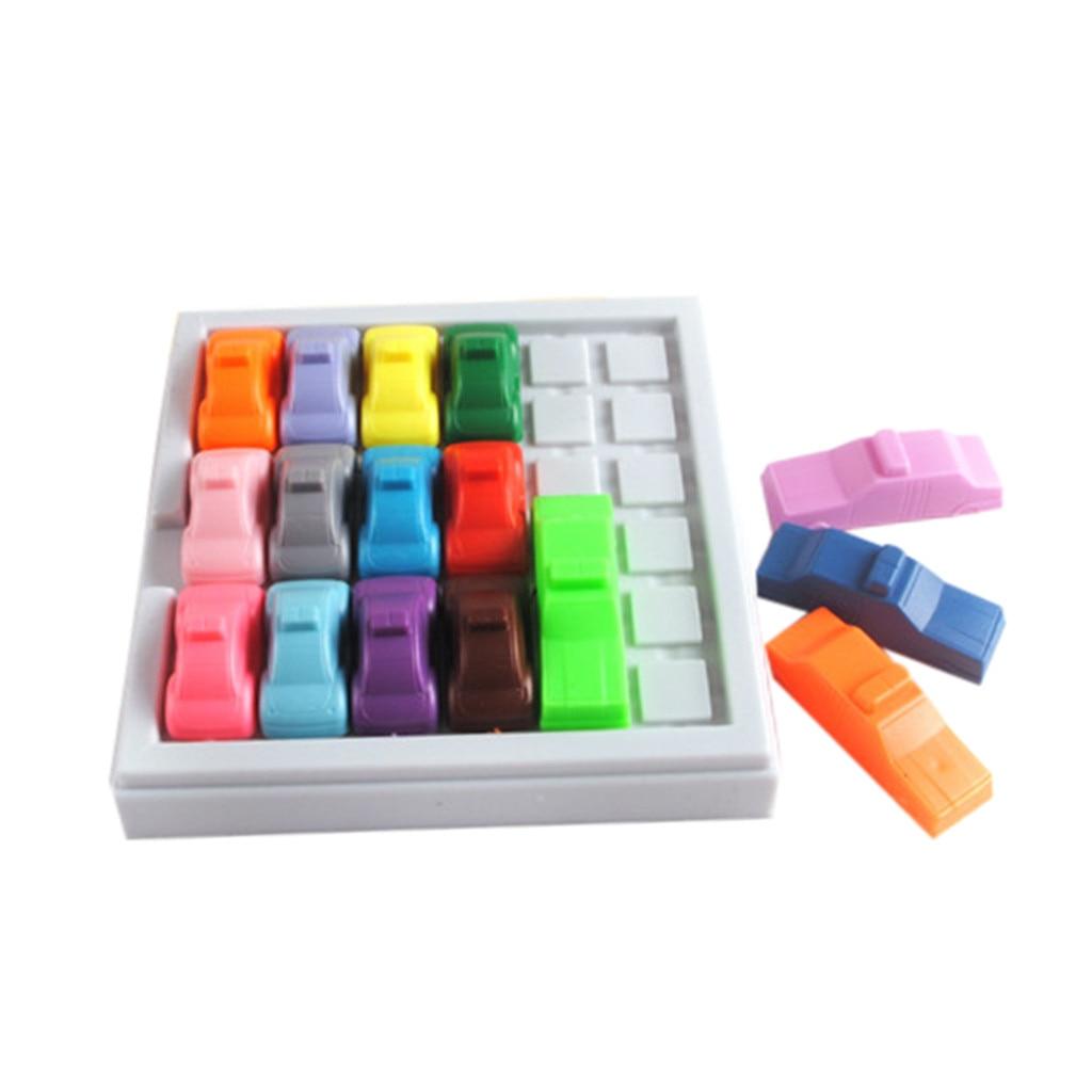 Creative high quality IQ Car Puzzle Game Fun Rush Hour Traffic Jam Logic Game Toy For Boys Girls 7.1