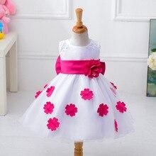 2017 Girl Flower Petals Dress Children Bridesmaid Toddler Elegant Dress Pageant Vestido Infantil Tulle Formal Party