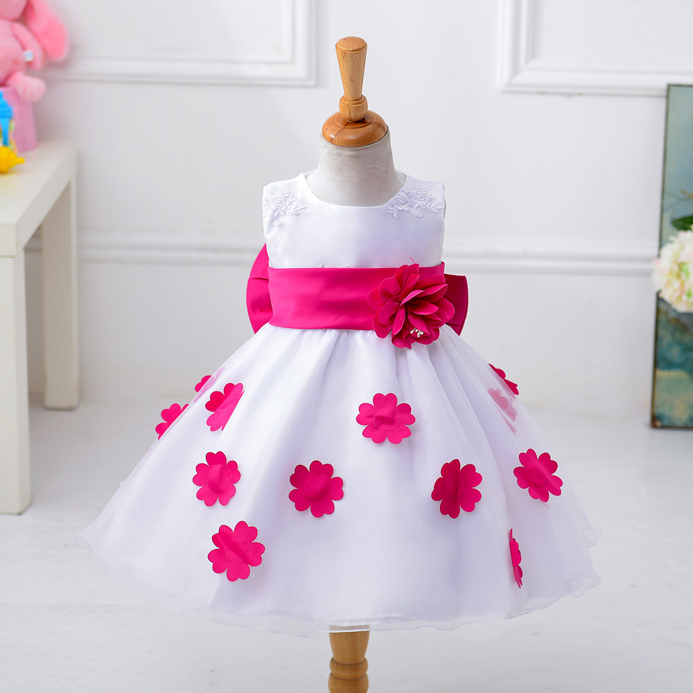 2017 Girl Flower Petals Dress Children Bridesmaid Toddler Elegant Dress Pageant font b Vestido b font