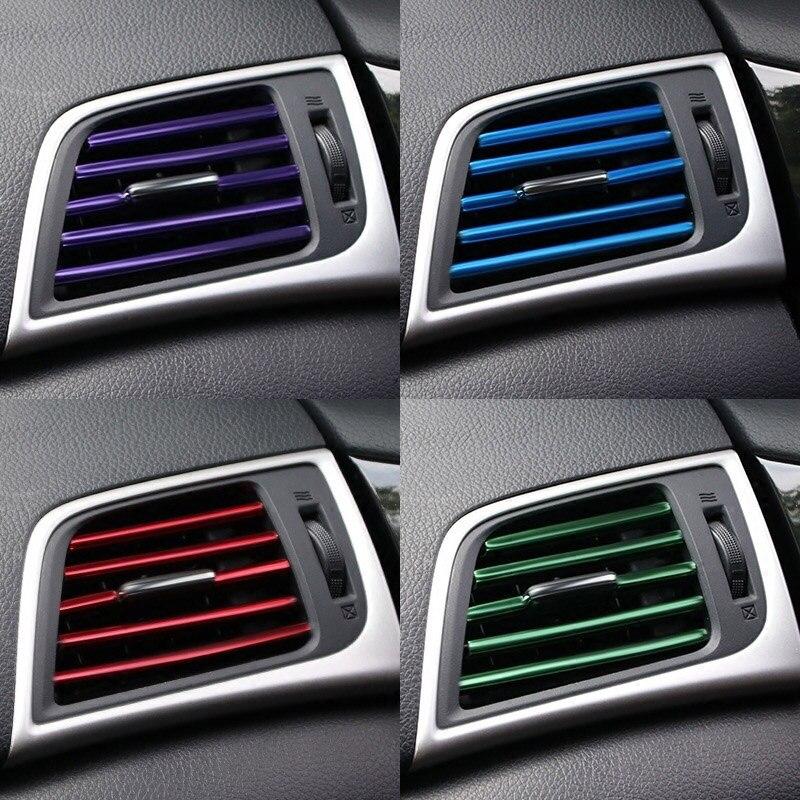 10 pcspliating воздуха на выходе отделка 20 см интерьер вентиляционное отверстие переключатель на решетке обода отделка на выходе украшение автомобиля аксессуары для интерьера