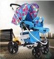 Continental alumínio de alta paisagem carrinho de criança carrinho de bebê carrinho de criança de quatro amortecimento super