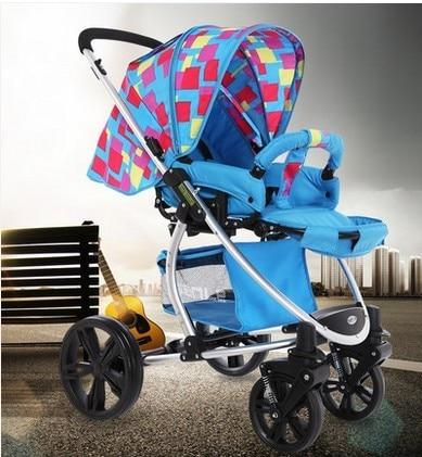 Continental aluminum high landscape stroller baby stroller child stroller four damping super