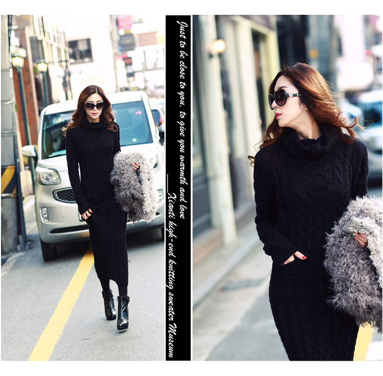 OHCLOTHING 19 European winter wool knitting female thickening noble temperament self-cultivation long bottom Sweaters 19