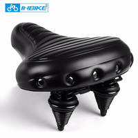 INBIKE Soft Wide Bicycle Saddle Comfortable Bike Seat Vintage Bicycle PU Saddle Pad Waterproof Cycling Parts Accessories|wide bicycle saddle|bicycle saddle|leather saddle -