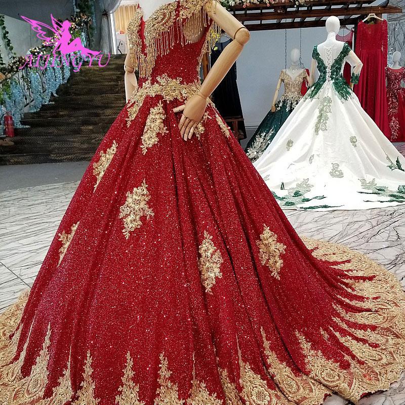 AIJINGYU Princess Wedding Dresses Maternity Gowns Ruffle