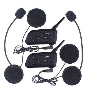 Image 2 - Vnetphone V6 マルチ BT インターホン 1200 メートル moto rcycle Bluetooth ヘルメットインターホン intercomunicador moto interfones 用 6 ライダー