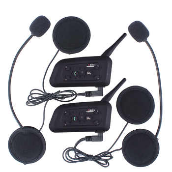 Vnetphone V6 Multi BT Interphone 1200M Motorcycle Bluetooth Helmet Intercom intercomunicador moto interfones headset for 6 Rider