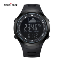NORTH EDGE Fashion Men Sports Watches Waterproof 50m Outdoor Digital Watch Fishing Swimming Wristwatch Reloj Hombre Montre Homme