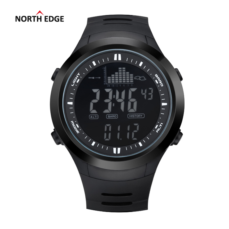 NORTH EDGE Fashion Men Sports Watches Waterproof 50m Outdoor Digital Watch Fishing Swimming Wristwatch Reloj Hombre Montre Homme 10color digital lcd pedometer run step walking distance calorie counter men women watch bracelet watch reloj hombre montre femme