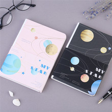 High Quality Planet Stars Hardcover Notebook B6 Hard Copybook Planner DIY Diary Bullet
